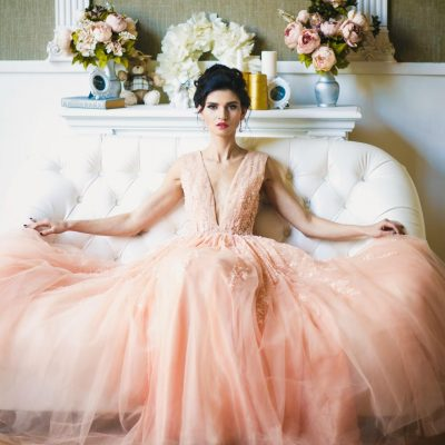 Girl in dress feminine